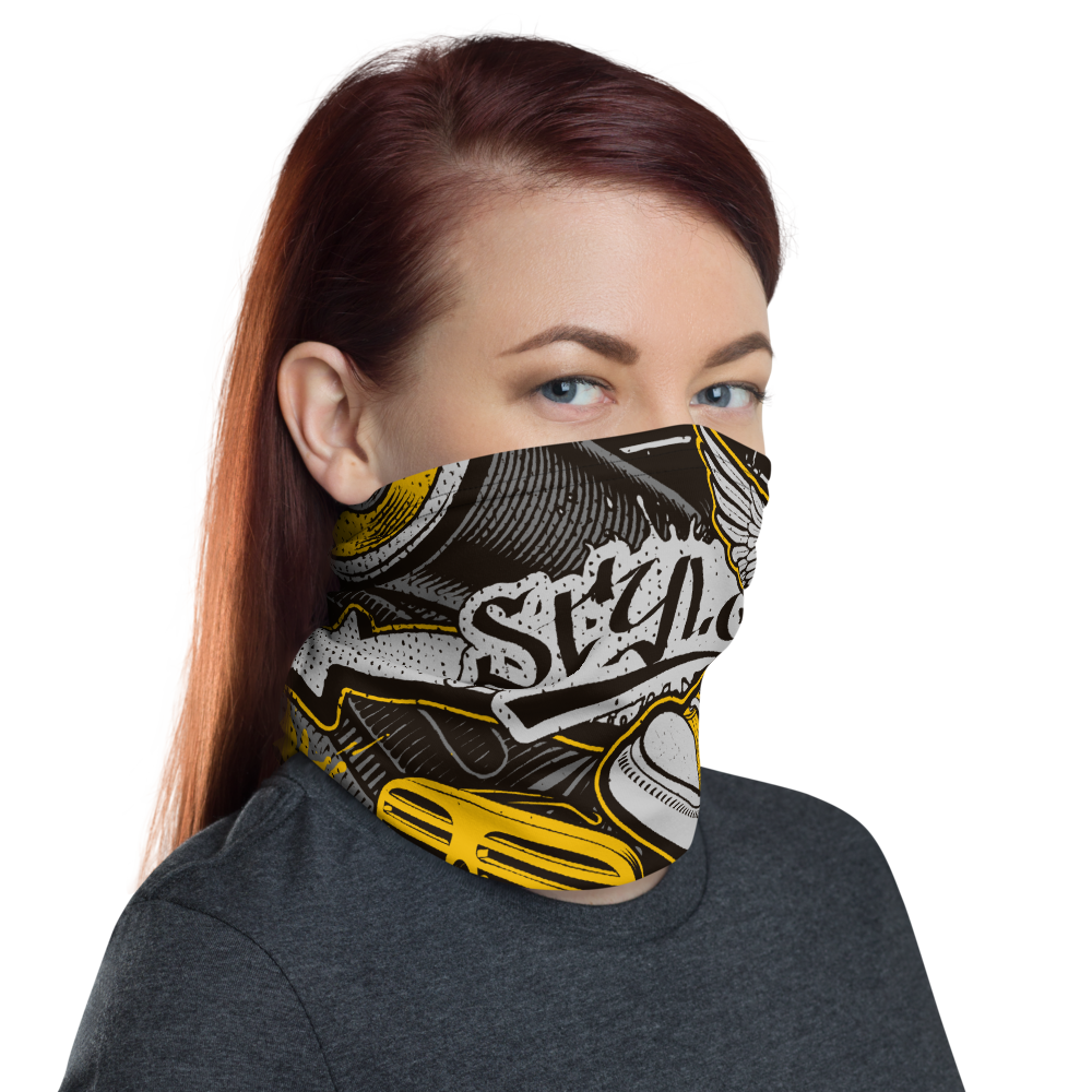 Diamondz Graffiti Style Facemask - Neck Gaiter