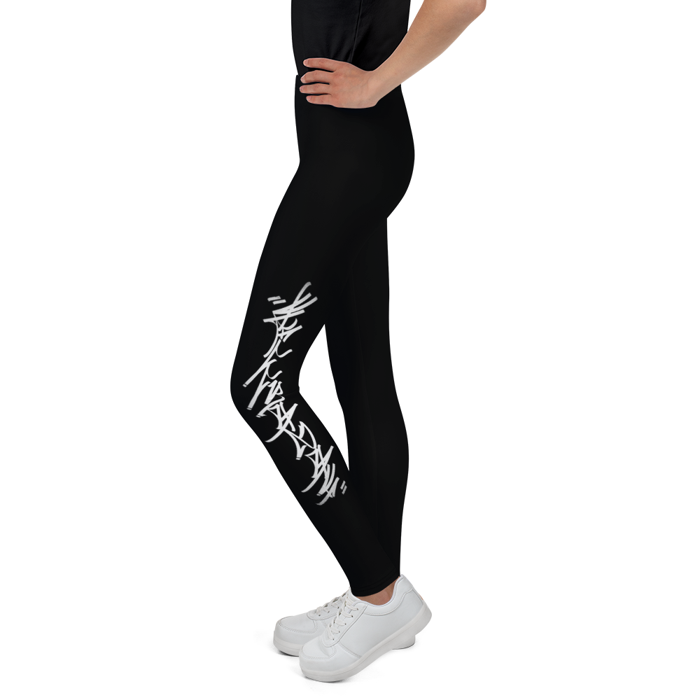 Official HellRazah Music Inc. Skateboarding Tagger Designer Youth Leggings HeavenRazah Merch Graphics by Sly Ski Original