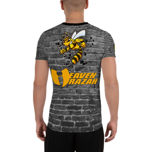 Official Heaven Razah Killer Bee Logo SU19 Release Sublimated Designer Men's Athletic T-shirt Hell Razah Music Inc Bee by Culture Freedom