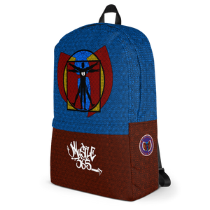 HRMI Vetruvian Superman Hell Razah Music Inc. Designer Backpack w/ Laptop Pouch HeavenRazah - Graphics by iHustle365