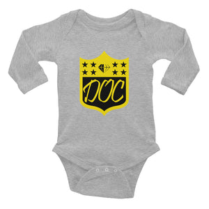 DOC Twisted Logo Baby Onesie Infant Long Sleeve Bodysuit