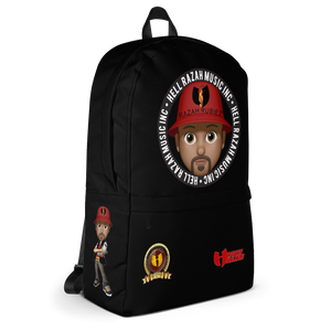 RAZAH RUBIEZ EMOJI Official Hell Razah Music Inc. Collectors Backpack w/ Laptop Pocket HeavenRazah Merch Graphics by SmuveMassBeatz