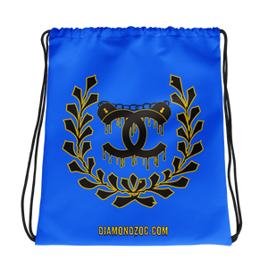 Blue Uncuffed by Diamondz Drawstring bag
