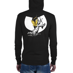 Official Hell Razah Music Inc Cherub with Mic Heaven Razah Merch Unisex Zip Hoodie Graphics by SmuveMassBeatz