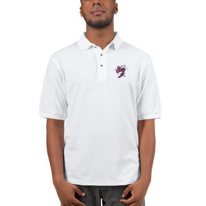 Hell Razah Music Inc Bee Red White and Navy Embroidered Polo Shirt Bee by Culture Freedom