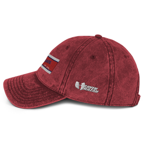 Razah Renaissance Apparel Red White Blue Embroidered Vintage Cotton Twill Cap