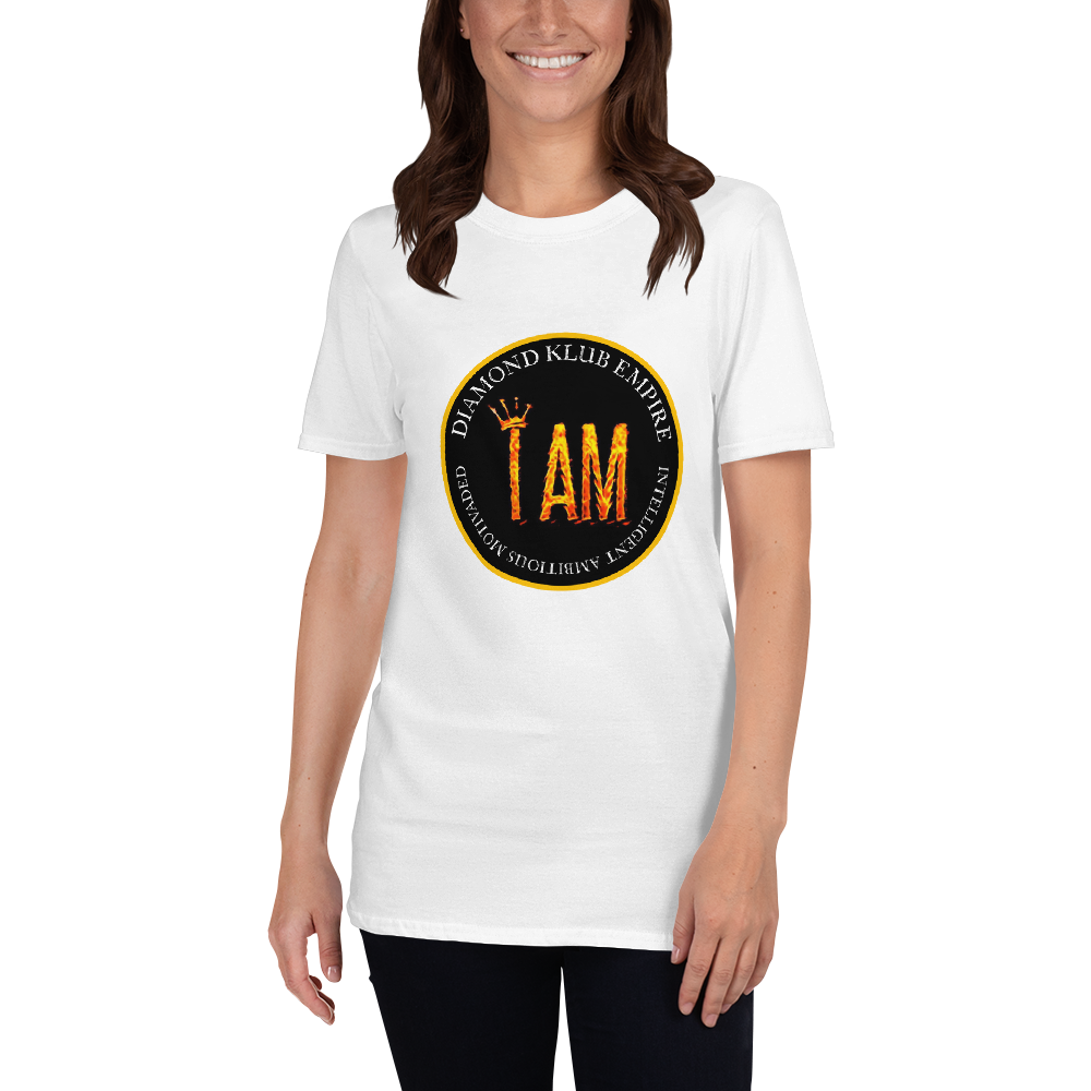 I AM Intelligent Ambitious Motivated Diamond Klub Empire Logo Short-Sleeve Unisex T-Shirt