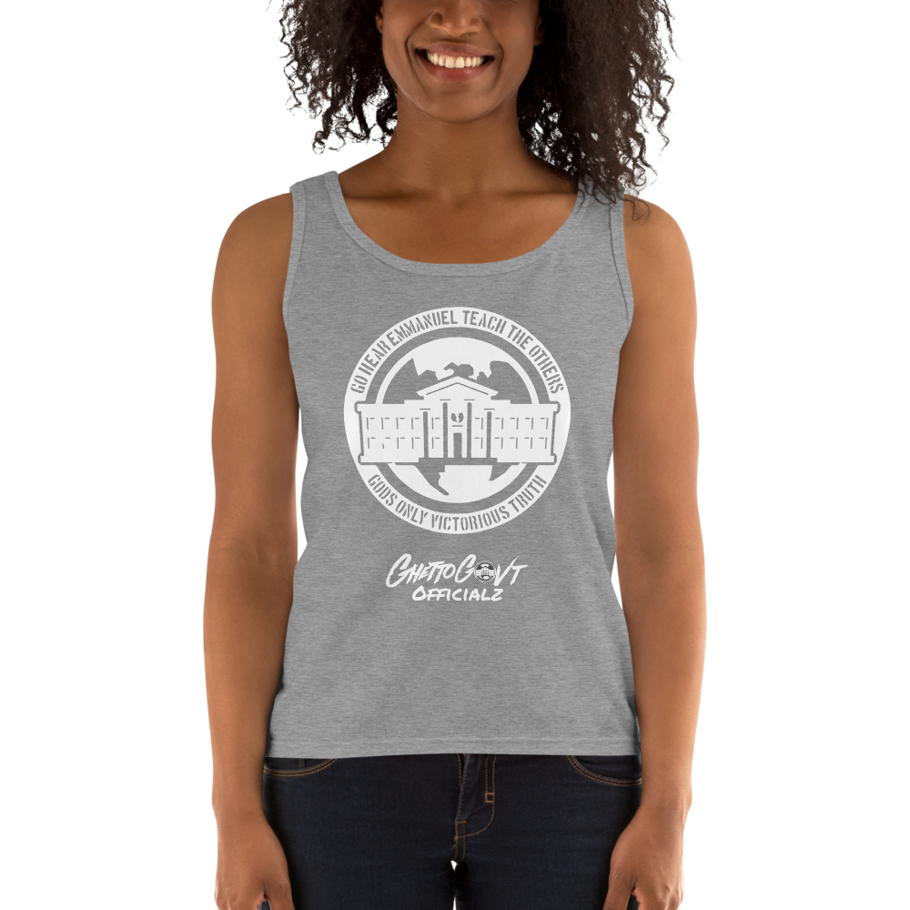 Ghetto Gov't Officialz Logo Ladies' Tank Heaven Razah - Hell Razah Music Inc