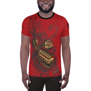The Mic by DiamondzOC Red Variant Sublimated Designer Men's Athletic T-shirt
