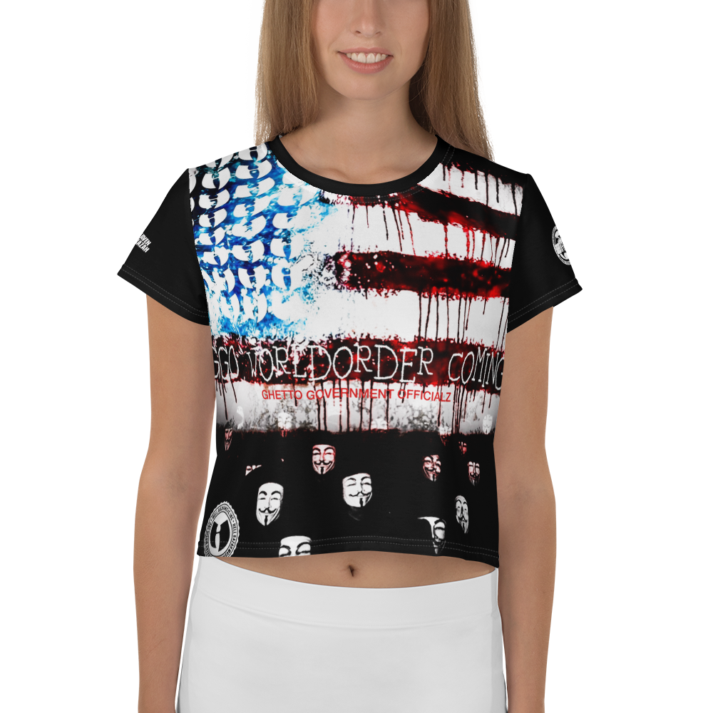 Official Hell Razah GGO Coming - Anonymous Heaven Razah Designer Sublimated Crop Tee