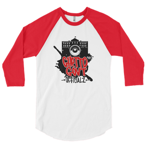 Ghetto Gov't Officialz Design by iHustle365_  3/4 Sleeve RaglanShirt Heaven Razah - Hell Razah