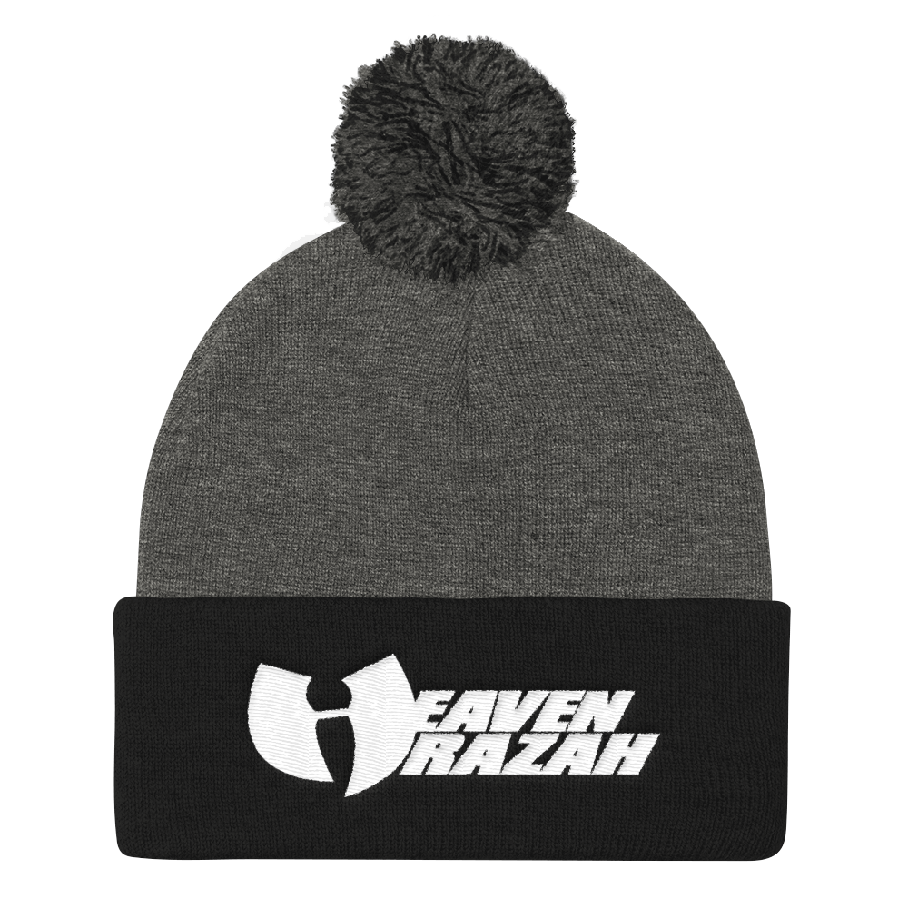 Official Heaven Razah / Hell Razah Music Embroidered Pom Pom Knit Cap Graphics by Culture Freedom