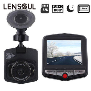 "lensoul Full HD 1080P View Angle Video Camera 2.4"" LCD Car DVR Dashcam G-Sensor IR Night Vision Mini Cam Camcorder"