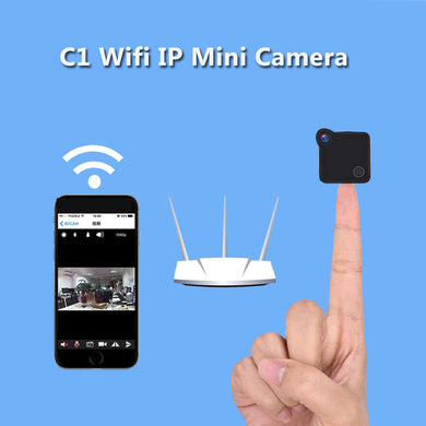 Volemer C1 Mini Wifi Camera IP Cam Wearable 720P HD H.264 Body Camera Wireless Motion Detection Mini DV Camera Bike Camera