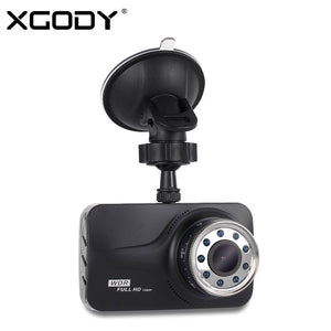 XGODY T639 DVR 3 Inch Dash cam Car Camera Night Vision With 9 IR Lights Driving Video Recorder Mirror Full HD 1080P Dashcam