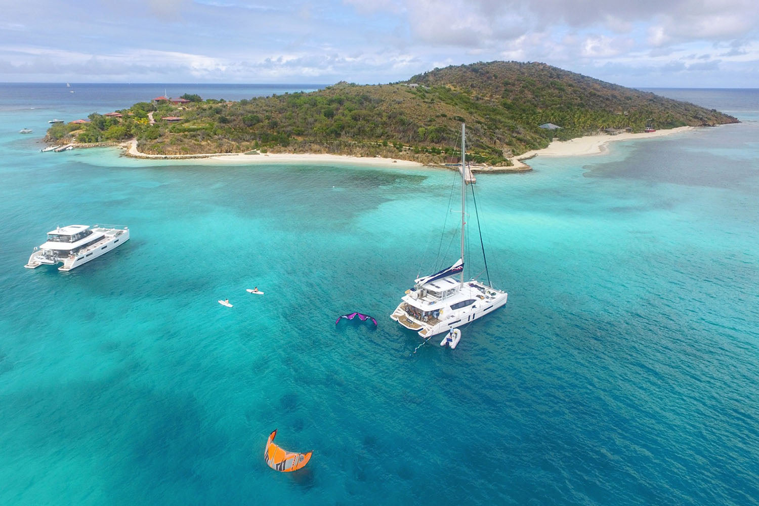 WIND VOYAGER CATAMARAN TRIP – KITEBOARDING THE BVI
