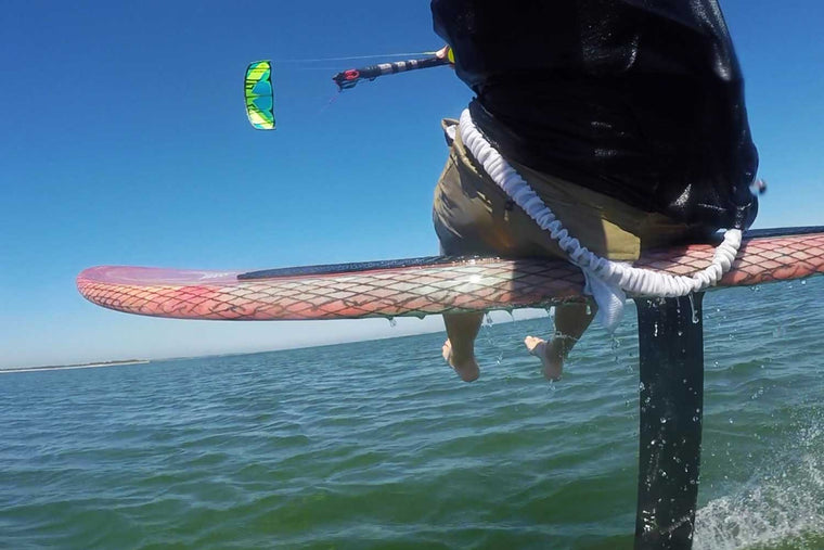 learn to kiteboard on a hydrofoil