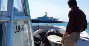Kiteboard trip on yacht to the Bahamas