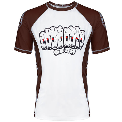 Grind Jiu Jitsu Knuckles Graded Rash Guard (Brown)
