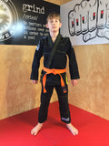 Grind Kaha Youth Premium Gi - Black with Yellow Stitching