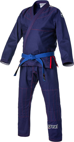Grind Kaha Premium Gi - Navy Blue with Red Stitching