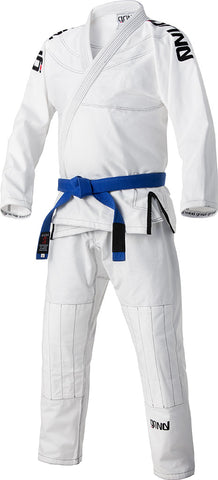 Grind Kaha Premium Gi - White with Black Stitching