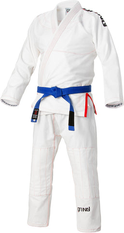 Grind Kaha Premium Gi - White with Red Stitching