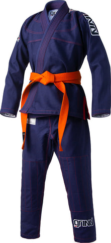 Grind Kaha Youth Premium Gi - Navy Blue with Red Stitching