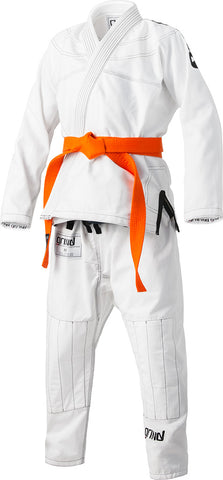 Grind Kaha Youth Premium Gi - White with Black Stitching