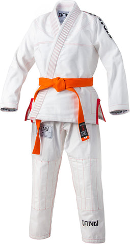 Grind Kaha Youth Premium Gi - White with Red Stitching