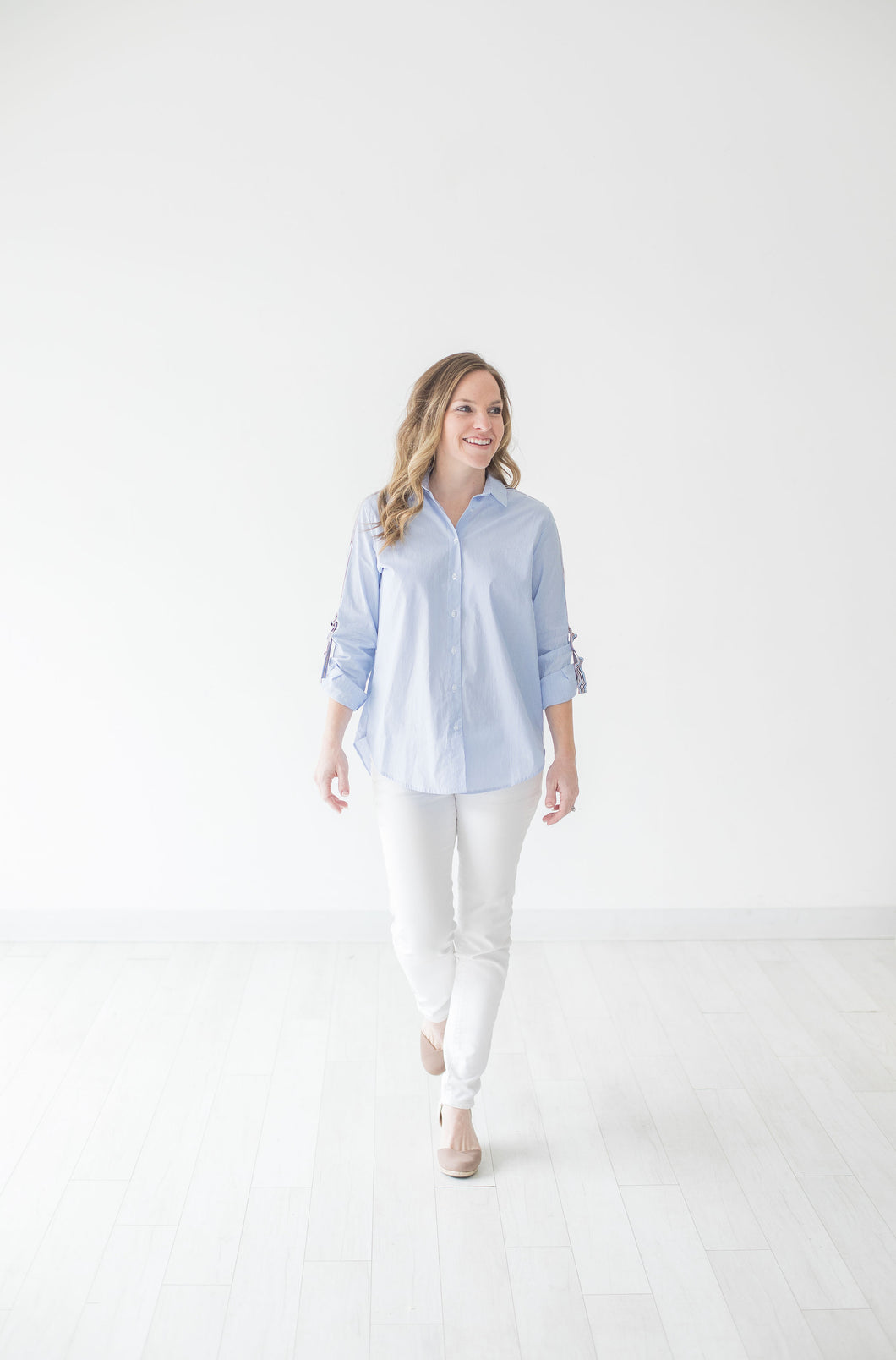 Bishop and Young Blue Stripe Blouse
