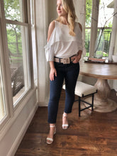 Load image into Gallery viewer, White Cold Shoulder Blouse