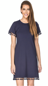 Navy Tassel T- Shirt Dress SALE