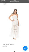 Load image into Gallery viewer, Strapless Lace Maxi Dress (2 Colors)