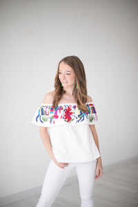Embroidered Off Shoulder Blouse by Buddy Love ON SALE