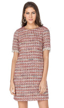 Load image into Gallery viewer, Tweed Metallic Dress