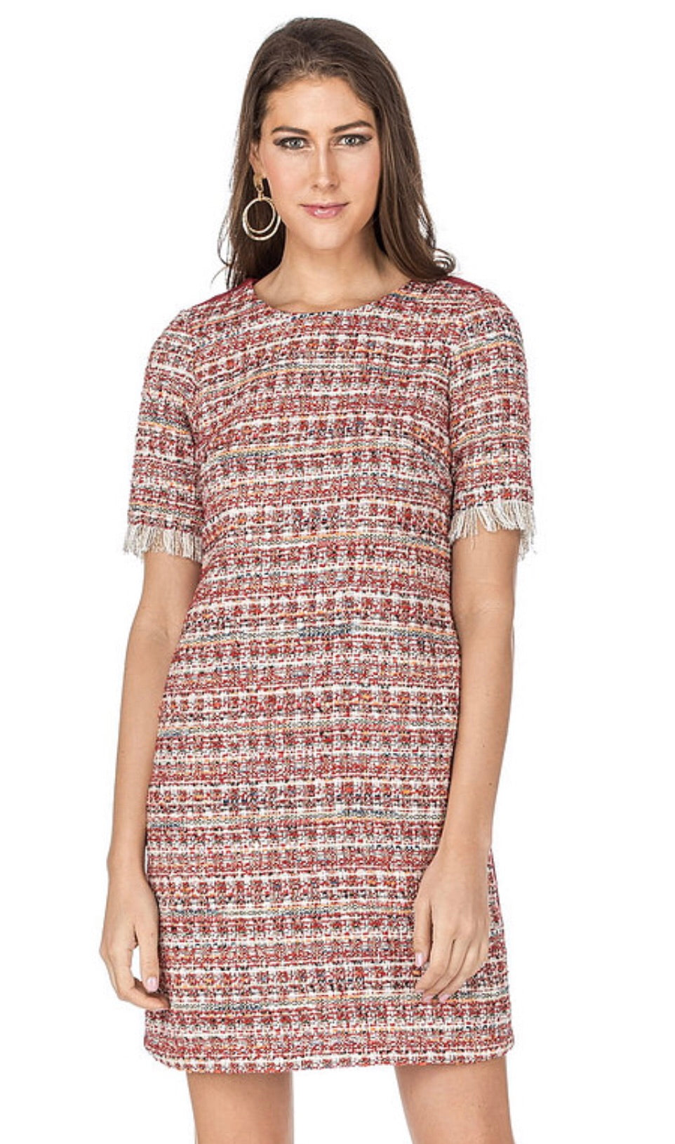 Tweed Metallic Dress