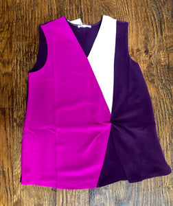 Purple Color Block Top
