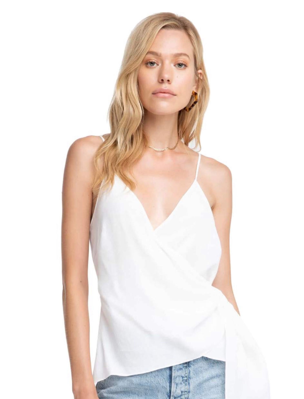 White Wrap Tank Top