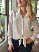 Load image into Gallery viewer, White Tie Front Blouse
