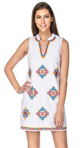 White Dress with Embroidery ON SALE