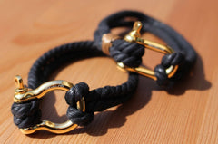 Hemp Bracelets Black and Gold 2 Rope