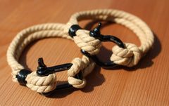 Hemp Bracelets Brown and Black 2 Rope