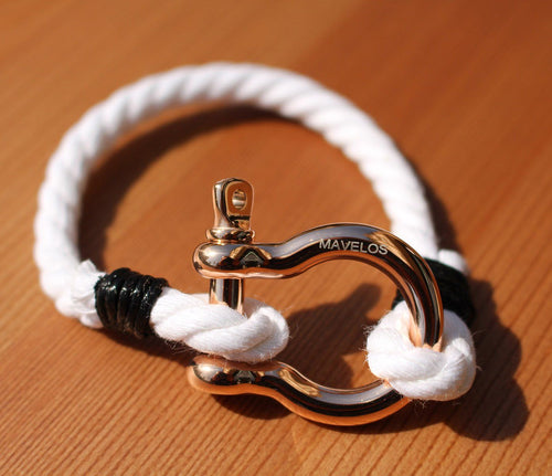 Hemp Bracelets White and Gold / Rosé 1 Rope