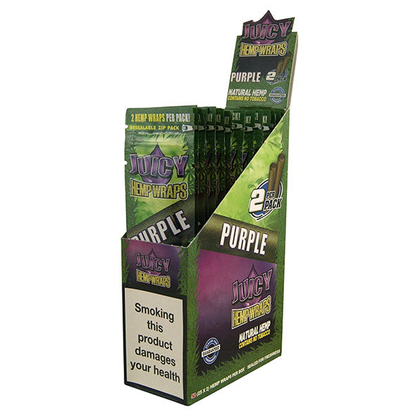Juicy Jays Hemp Wraps Natural 2 per Pack Different Flavors No Tobacco