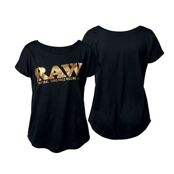 RAW-GIRL-SHIRT-BLACK-GOLD-logo-smoking-luxembourg-luxemburg-fashion-clothes