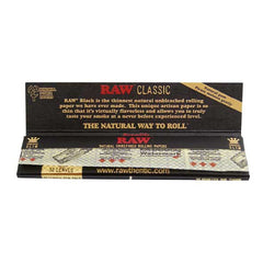 RAW Classic Papers BLACK Kingsize Slim Thinnest Raw Papers