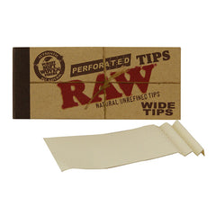 RAW Perforated Tips Wide Tips Soft Fibre