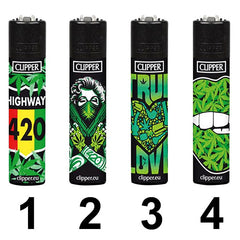 Clipper Feuerzeug Lighter Briquet Girl Weed