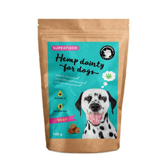 Hemp dainty for dogs - beef flavor treats | Leckerli - Superfood